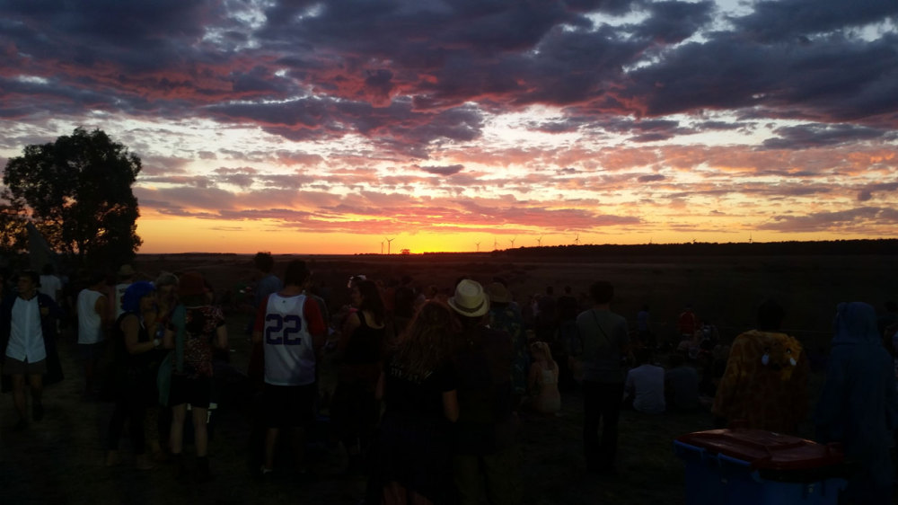 Sunset at Meredith Music Festival 2014