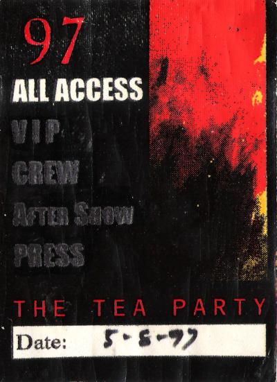 Tea Party backstage pass
