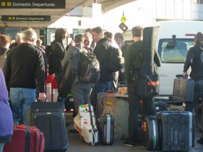 Afghan Whigs at Melbourne airport