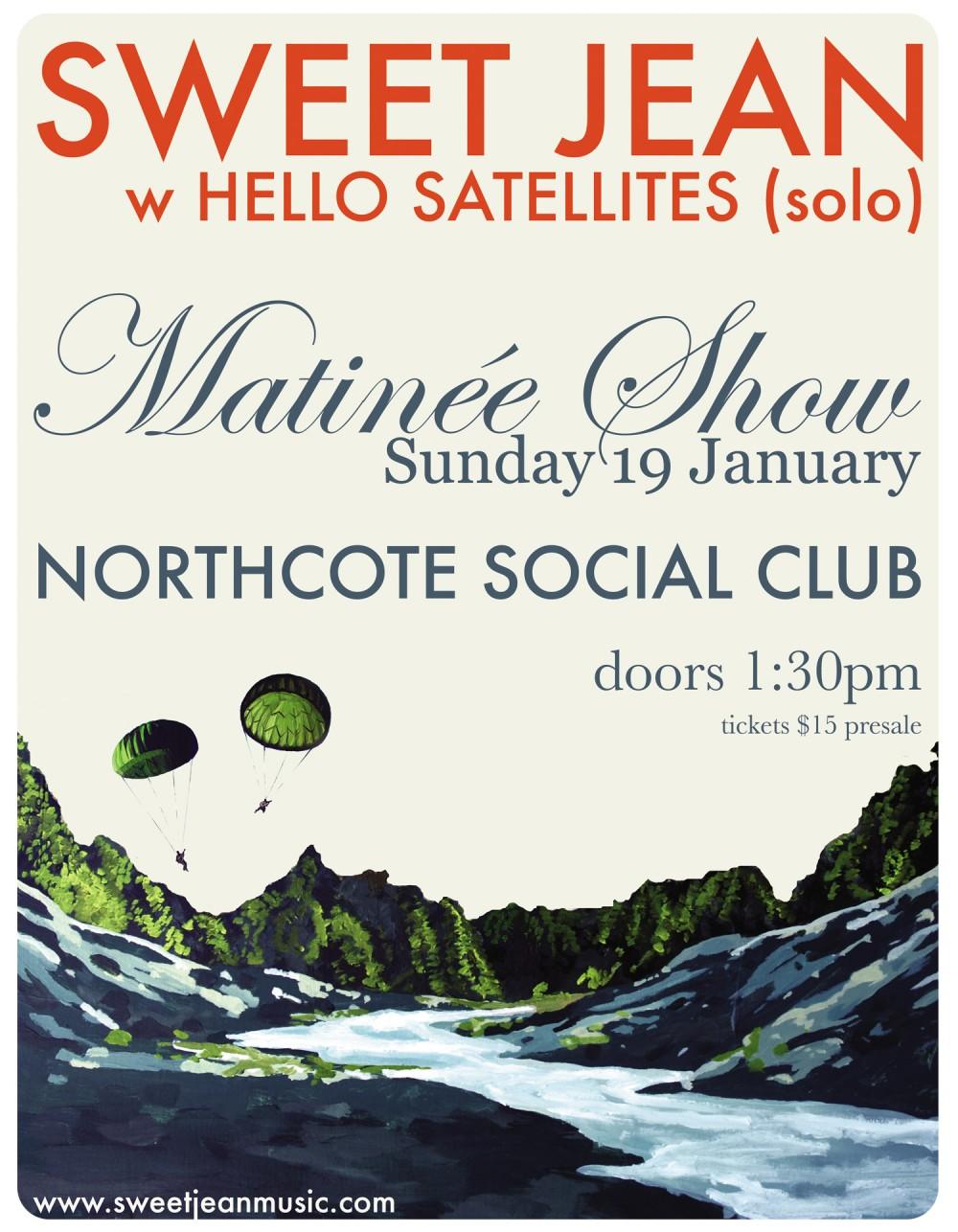 Sweet Jean @ Northcote Social Club, Melbourne (Sun 19 Jan 2014)