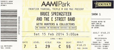 bruce-springsteen-ticket-stub-melbourne