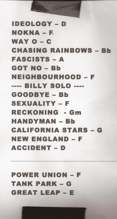 Billy Bragg setlist- Melbourne 2014
