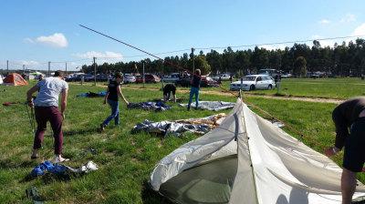 Meredith camp setup
